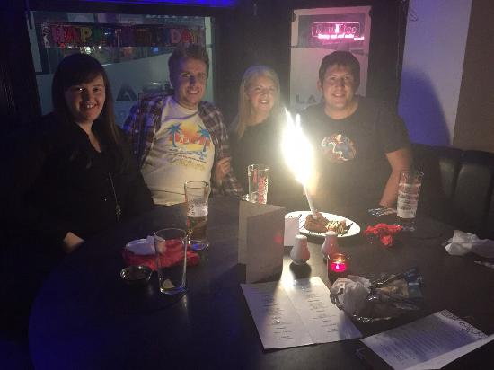 Viraaj Restaurant : Excellent birthday curry!    Loved my cake with the sparkler!