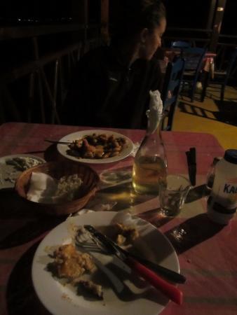 Thirassia, Yunani: Panorama Restaurant-authentic Greek food