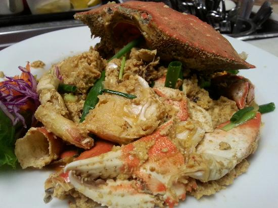 Curry crab picture of m p authentic thai cuisine for Authentic thai cuisine