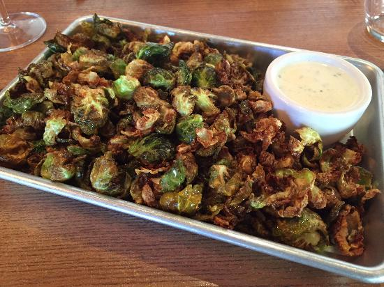 Fast Food Francais : fried brussels sprouts -- big portion but not amazin
