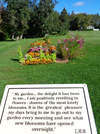 L.M. Montgomery's Cavendish National Historic Site of Canada: Garden and example of quotes