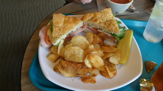 Clark's Fork: Clark's Deli Special with fresh potato chips and dill pickle