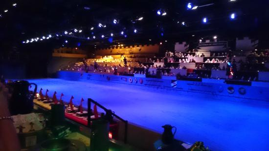 Kissimmee, FL: Knights battle arena and coloured zones