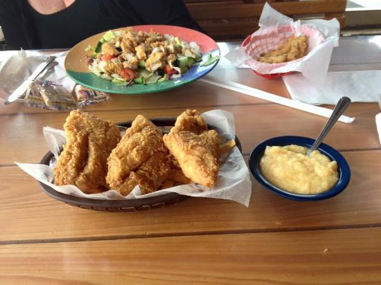 Slip's: Fried Grouper Cheese grits