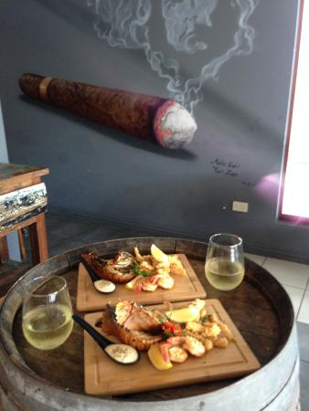 iS Tapas Bar: seafood lunch special chilli bugs, garlic prawns, calamari and wine $30