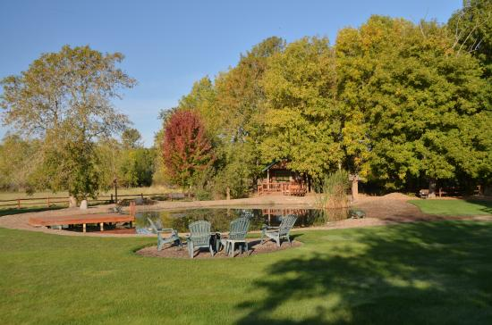 Hopewell Bed & Breakfast: Swimming pond and fire pit