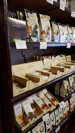 Lily O'Briens - The Chocolate Cafe: Stocked Shelf at Carter's Chocolate Cafe