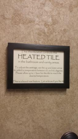 The Lexington at Jackson Hole Hotel & Suites: heated floors