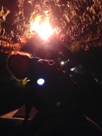 McGregor, IA: Spook Cave: Tight Fit Stalactites
