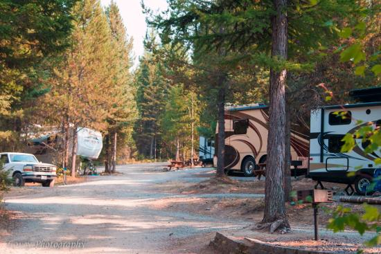 Hungry Horse, MT: A street view of the RV sites