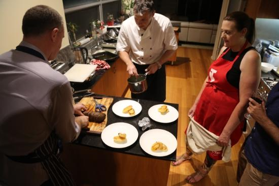 Dish Du Jour: Plating up what we had just made
