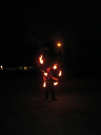 Glow Worm Accommodation: Glow Worm Fire Show