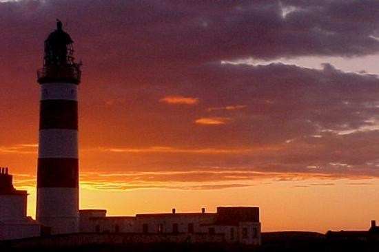 Bride, UK: Point of Ayre Lighthouse & Sunset