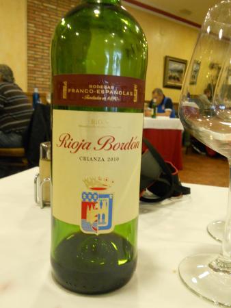 Restaurante Casa Tomas : el mas económico de la carta de vinos (16,5€)