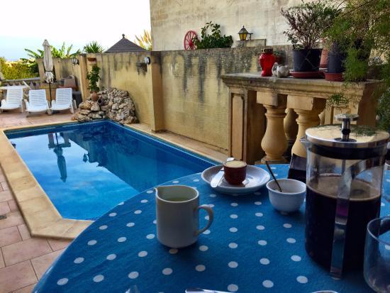 Narcisa Bed & Breakfast : Colazione in veranda