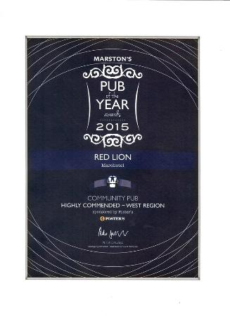 Marchwiel, UK: Highly Commended Community Pub of the Year 2015