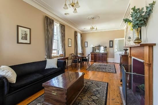 The Grand Old Duke: York Apartment lounge room