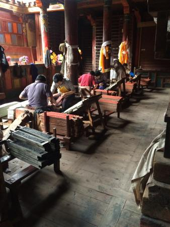 Dege Parkhang Sutra-Printing House : Parkhang Scripture Printing house