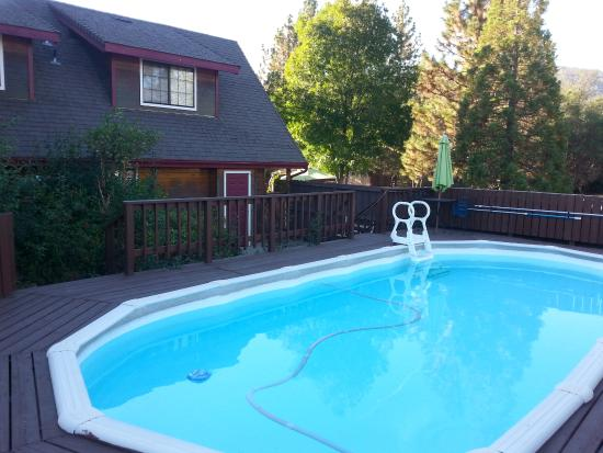 Nature's Inn Bed & Breakfast: The outdoor pool area