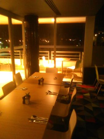 Doveton, Австралия: Atura Hotel:  Not too bad a view at Night [October 2015]