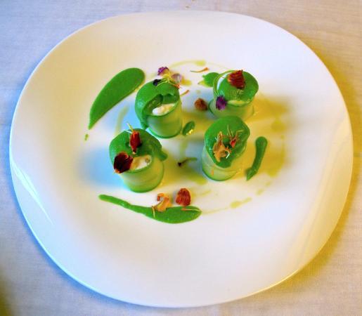 Restaurante Yerbaguena : Tiras de Calabacíin con Alioli de Membrillo
