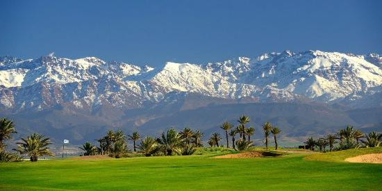 Assoufid Golf Club: View of the Atlas Mountains from the 4th fairway