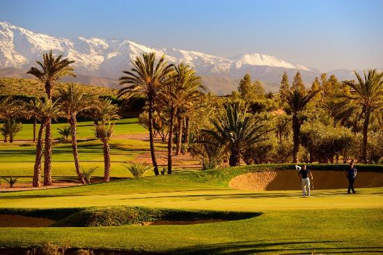 Assoufid Golf Club: Golfers on the 17th
