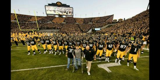 Nile Kinnick Stadium: Kinnick and Back Porch set up
