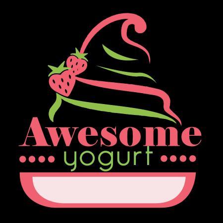 Awesome! Yogurt: BlackGround Logo