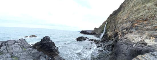 Tresaith Beach Waterfall