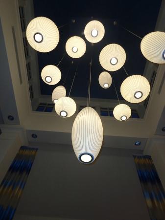 lighting in lobby