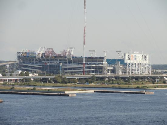 Doubletree By Hilton Jacksonville Riverfront View Of Everbank Stadium From Hotel Room Balcony