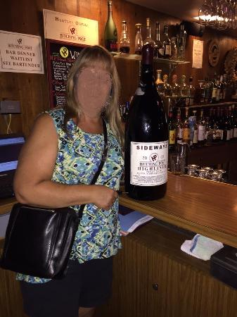 The hitching post ii sideways bottle of wine at hitching post