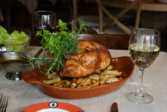 La Mangeoire: Farm Raised, Roasted Chicken, Natural Jus, Family Style