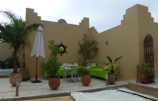 terrasse, riad Safir, Meknes