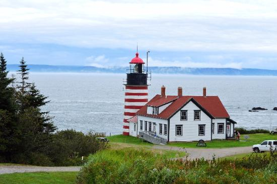 Lubec, ME: Lighthouse from upper parking lot