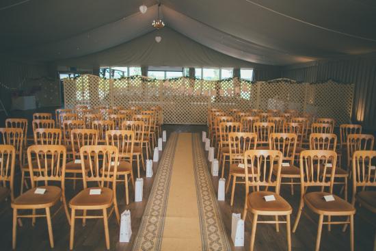 Woodlands Castle: Pavilion ready for our ceremony