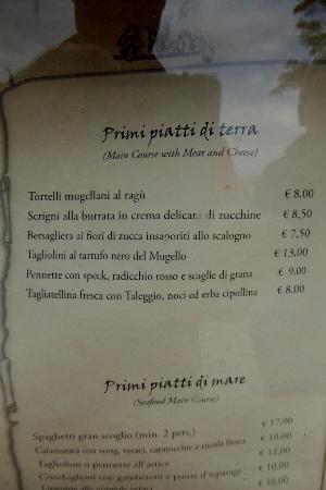 Виккьо, Италия: Primi