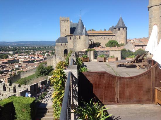 Hotel De La Cite Carcassonne   MGallery Collection : Vue De La Chambre,avec  Terrasse