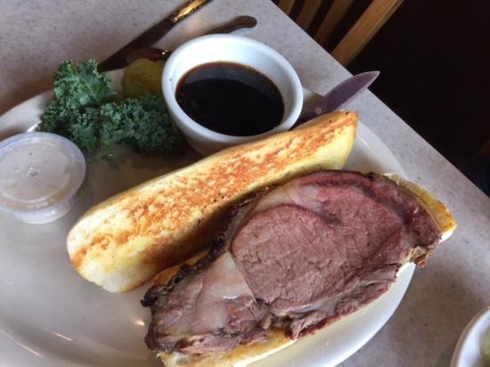 Fall City, WA: Prime Rib Dip Sandwich