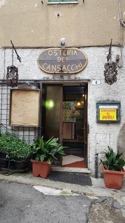 Osteria Dei Cansacchi: Fachada del restaurante