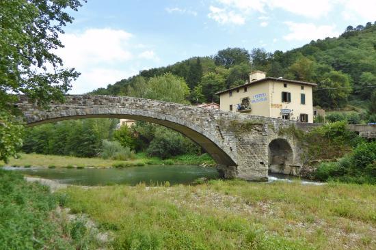 Vicchio, Italië: Die alte Sieve-Steinbrücke