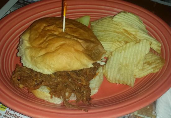Harrisville, MI: BBQ Pork Sandwich