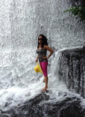 Myself At The Water Falls Restaurant Villa Escudero