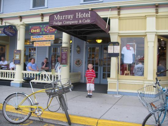 Murray Hotel: Grandson in Front of Murray enjoying himself