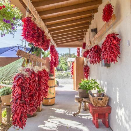 Ristras and Chile - Picture of Santa Fe Honey Salon & Tea Shop ...