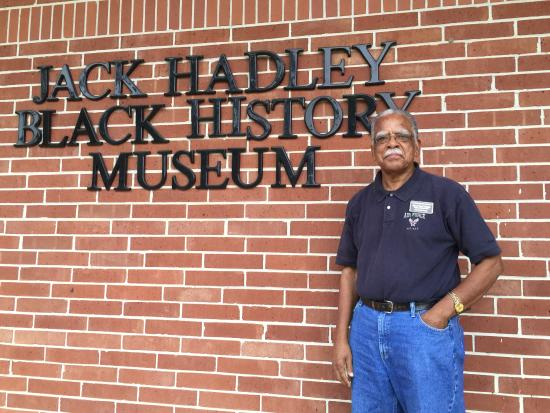 Thomasville, GA: Mr Jack Hadley standing outside The Jack Hadley Black History Museum