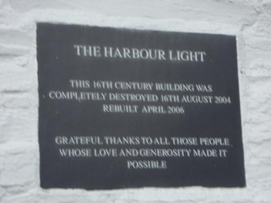 Boscastle, UK: Plaque on Wall