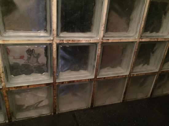 The Blue Sheep Bed & Breakfast Amsterdam: Tiles in the shower. Filthy and grimey.
