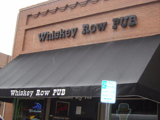 Front of Whiskey Row Pub